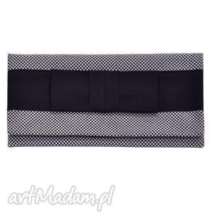 kopertówki 03-0012 czarno-biała torebka kopertówka wieczorowa do ręki crow