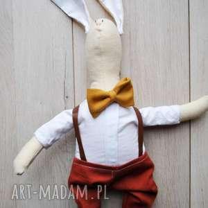 pan królik - przytulanka, szmacianka, zabawka, choinka, prezent, królik