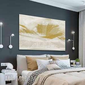 minimalistyczny obraz na płótnie złoty kwiat 120 x 80, nowoczesny