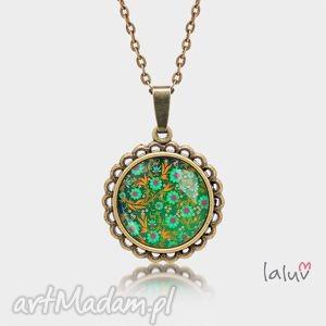 Medalion okrągły mały ŁĄKA - ,kwiaty,motyw,roslinny,wiosna,prezent,medalion,