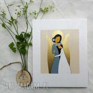 anioł stróż dla dziewczynki - brunetka, stróż, pamiątka komunijna