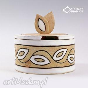 cukierniczka listki folk - cukierniczka, naczynie, prezent, ceramika