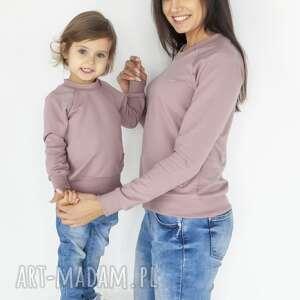 Animals by libou zestaw bluz dla mamy i dziecka róż handmade