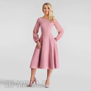 hand made sukienki sukienka aniela total midi brudny ró&#380