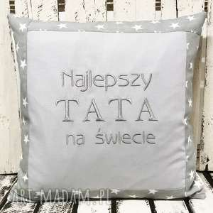 poduszka prezent najlepszy tata na świecie 40x40cm, tata, tatuś, ojciec, dzień