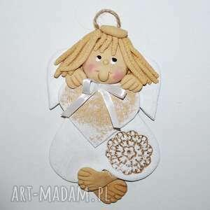handmade pokoik dziecka serce dla ludwiki - aniołek z dedykacją