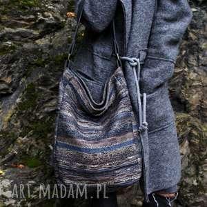 IKS vege navaho szary grafit, torba, torebka, vegan, folk, etno,