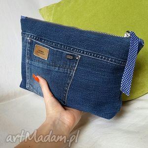 Kosmetyczka Z Jeansu, minitorebka, jeans, dżins, recykling, kosmetyczka, bawełna