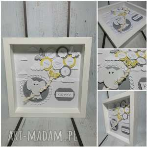 motylkowym metryczka dla maluszka w szarosciach - chrzest, narodziny, metryczka, urodziny