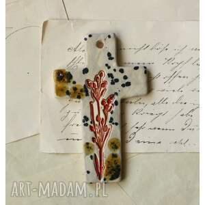 ceramika krzyżyk nakrapiany, ceramika, krzyżyk, rośliny, wyjątkowy prezent