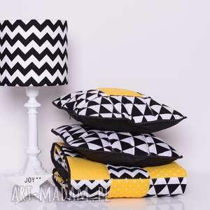 narzuta yellow joy 95x150cm 2 poduszki, patchwork od majunto - patchwork, narzuta