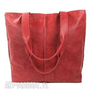 duża torba, worek ze skóry licowej 2605, torebka, torba do pracy, na
