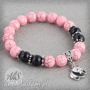 Różowa panda - ,howlit,różowy,panda,gumka,elegancka,