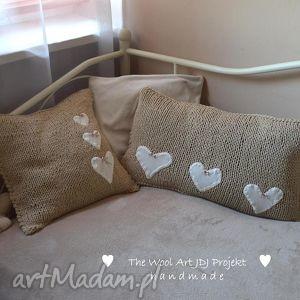 poduszki komplet poszewek na zamówienie, poduszki, poszewki, brąz, wełniane