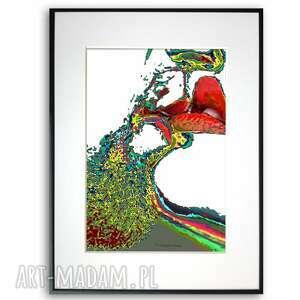 grafika w ramie kolorowe pocałunki 30x40, pocałunki, nowoczesne, artystyczne