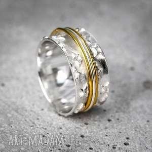 hand-made pierścionki 925 srebrny pierścionek medytacja