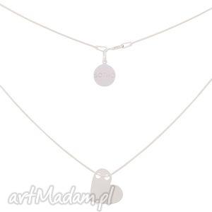 srebrny minimalistyczny naszyjnik z sercem sotho - łańcuszek