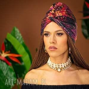 ręczne wykonanie ozdoby do włosów turban - pani jesień