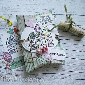 handmade kartki pudełko na prezencik pieniężny