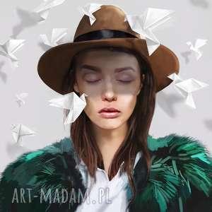 OBRAZ NA PŁÓTNIE Paper Birds 100x100 cm, obraz, salon, wnętrze, nowoczesny, bird