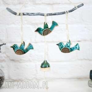 ceramiczna dekoracja ścienna - ptaki boho, boho dekoracje, ceramiczne