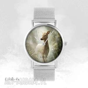 handmade zegarki zegarek, bransoletka - sarna metalowy