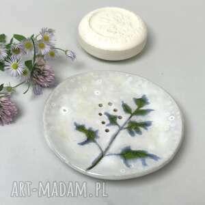 """Ceramiczna mydelniczka ręcznie robiona """"limba"""" ceramika"""
