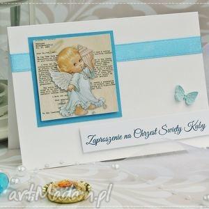 zaproszenie zaproszenia na chrzest św kolekcja little angel, chrzest, chrzciny