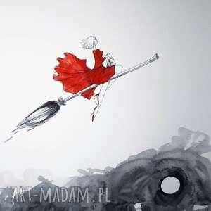 dekoracje w drogę akwarela artystki adriany laube - obraz na papierze a3