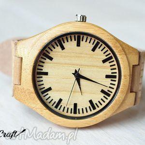 Zegarek drewniany BAMBOO NATURAL, zegarek, naturalny, skóra, drewniany, drewno
