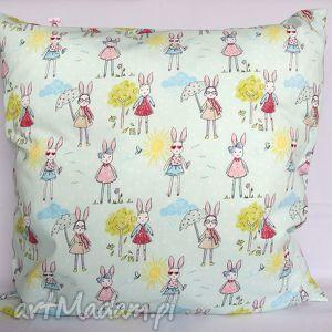 hand made pokoik dziecka poduszka w króliczki piękna ozdoba prezent!!