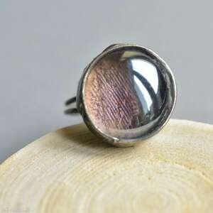 fioletowa zorza - pierscionek w regulowanym rozmiarze, duży pierścionek