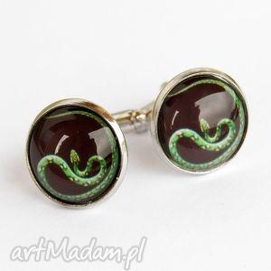 spinki do mankietów węże b713, spinkidomanietów biżuteria