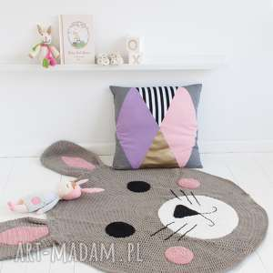 dywan królik 100 cm, dywan, królik, sznurek, bawełniany, dywanik dom