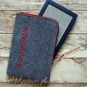 filcowe etui na czytnik e-book #czytambolubię, etui, filcowe, ebook, czytnik, kotki