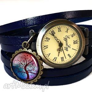 egginegg drzewo nadziei - zegarek bransoletka na skórzanym, symboliczna