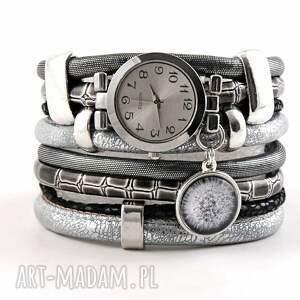 zegarek - bransoletka z dmuchawcem, owijany, zegarek bransoletka, owijany