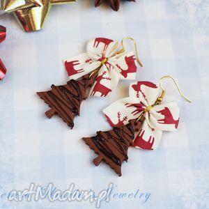świąteczne kolczyki pierniczki ciastka na prezent, kolczyki, święta