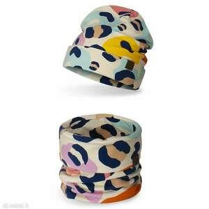 komplet dziecięcy komin czapka, komplet, komin, na wiosnę, lekka czapka
