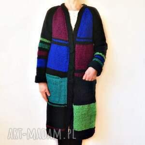 ręcznie wykonane swetry sweter płaszcz kardigan robiony na drutach