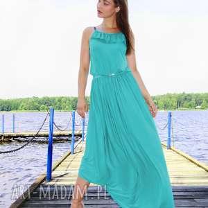 Sukienka Maxi Venus Turkusowa, maksi-sukienka, turkusowa-sukienka, długa-sukienka