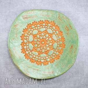 święta, patera ceramiczna, talerz, folk, rustic, salon, misa