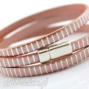 hand-made bransoletka skórzana magnetoos triple elegance