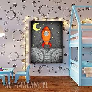 hand-made pokoik dziecka kosmiczna podróż