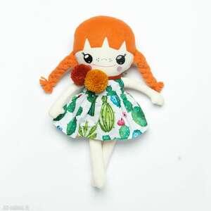 bawełniana laleczka z rudymi warkoczami, lalka, laleczka, lalka handmade, ruda