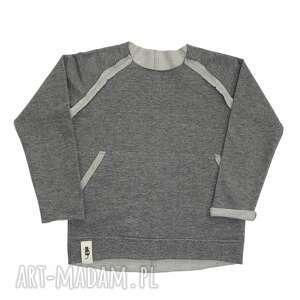święta, bluza basic szara, bluza, basic, surowa, bawełna, dziecięca, raglan
