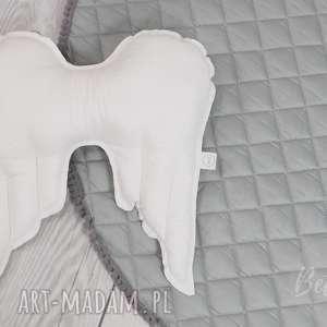 handmade pokoik dziecka poduszka skrzydła białe angels wings