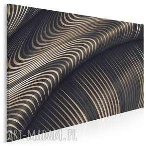 obraz na płótnie - fala nowoczesny abstrakcja 120x80 cm 97301