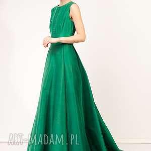 suknia chantana, jedwabna, oryginalna, balowa, elegancka, niepowtarzalna