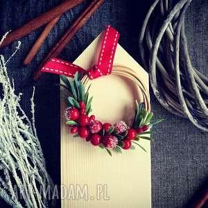 Pomysł na prezent święta. Wianek mini dekoracje wooden love